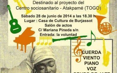 Concierto solidario en la Casa de Cultura de Burjassot